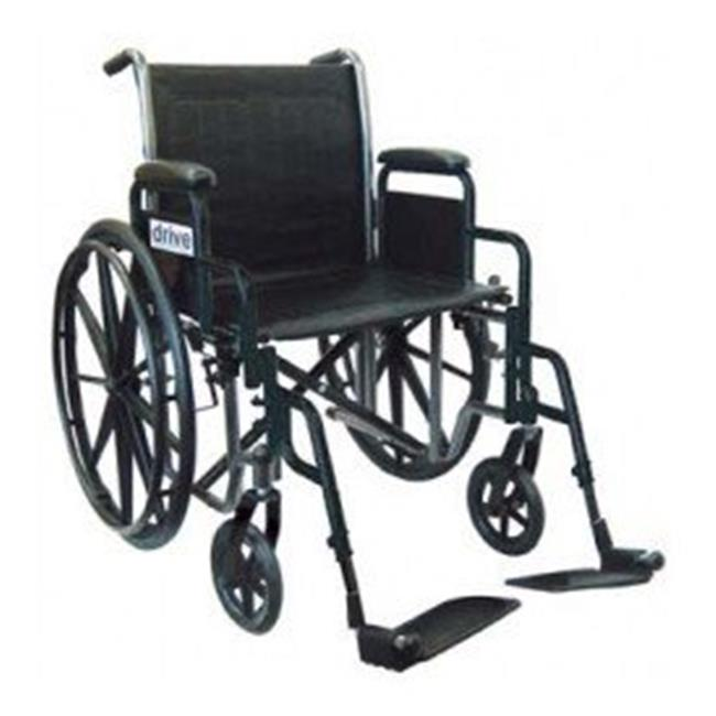 Silver Sport 2 Wheelchair  20 Inch Silver Vein Detachable Desk Arm  Swing Away Elevating Leg Rests  1 per Case