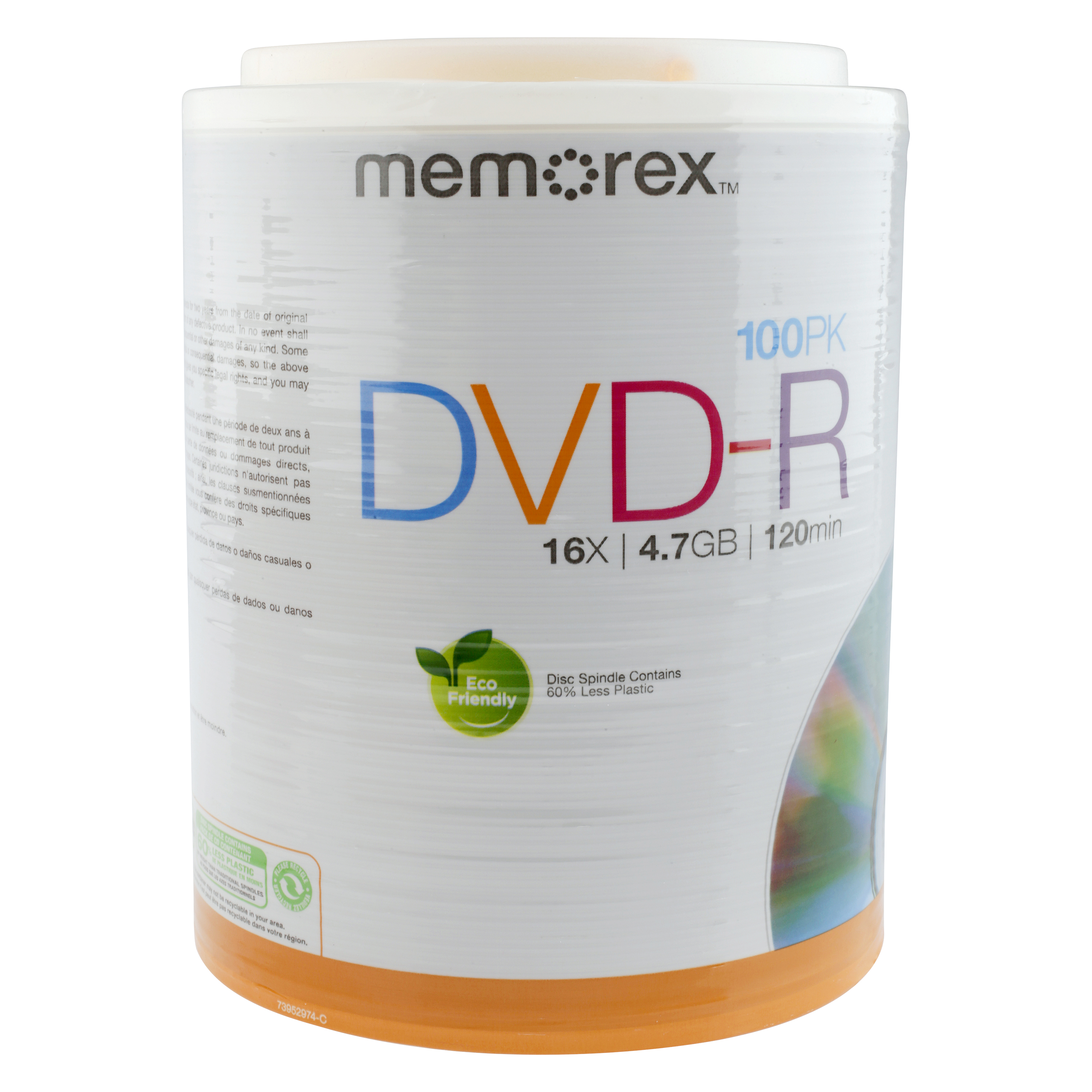 Memorex 100 Pack DVD R Writeable 16X