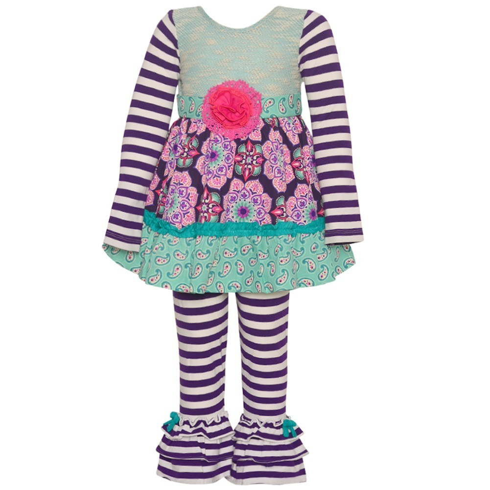 Rare Editions Counting Daisies Little Girls Purple Stripe...