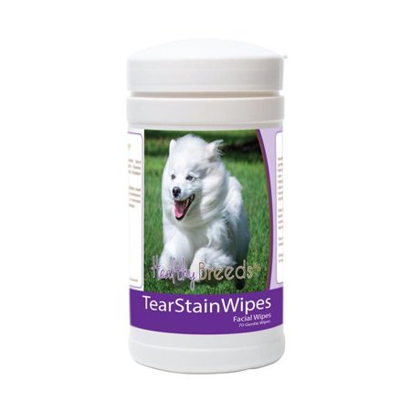 Healthy Breeds 840235175452 American Eskimo Dog Tear Stain Wipes - 70 Count