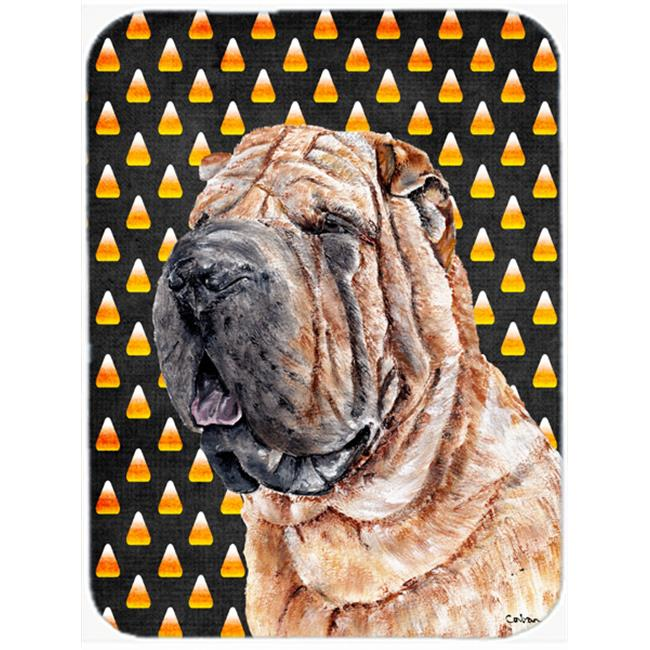 Shar Pei Candy Corn Halloween Mouse Pad, Hot Pad Or Trivet, 7.75 x 9.25 In. - image 1 de 1