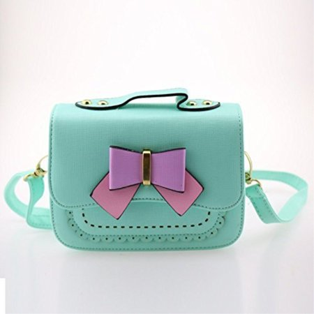 Dodocat Super Cute 3d Design Small Blue Bowknot Messenger Bag Kids Shoulder Crossbody Handbag