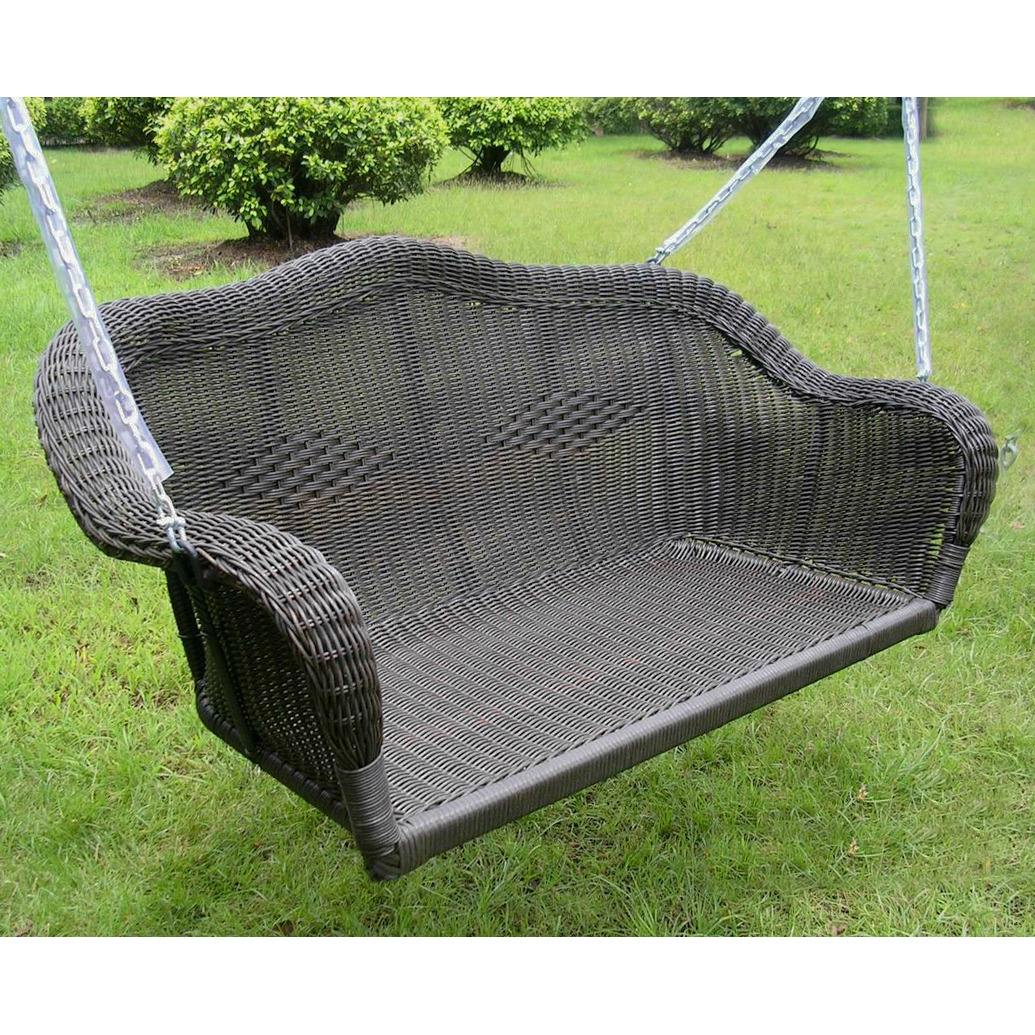Maui Resin Wicker  Steel Hanging Loveseat Swing by NA