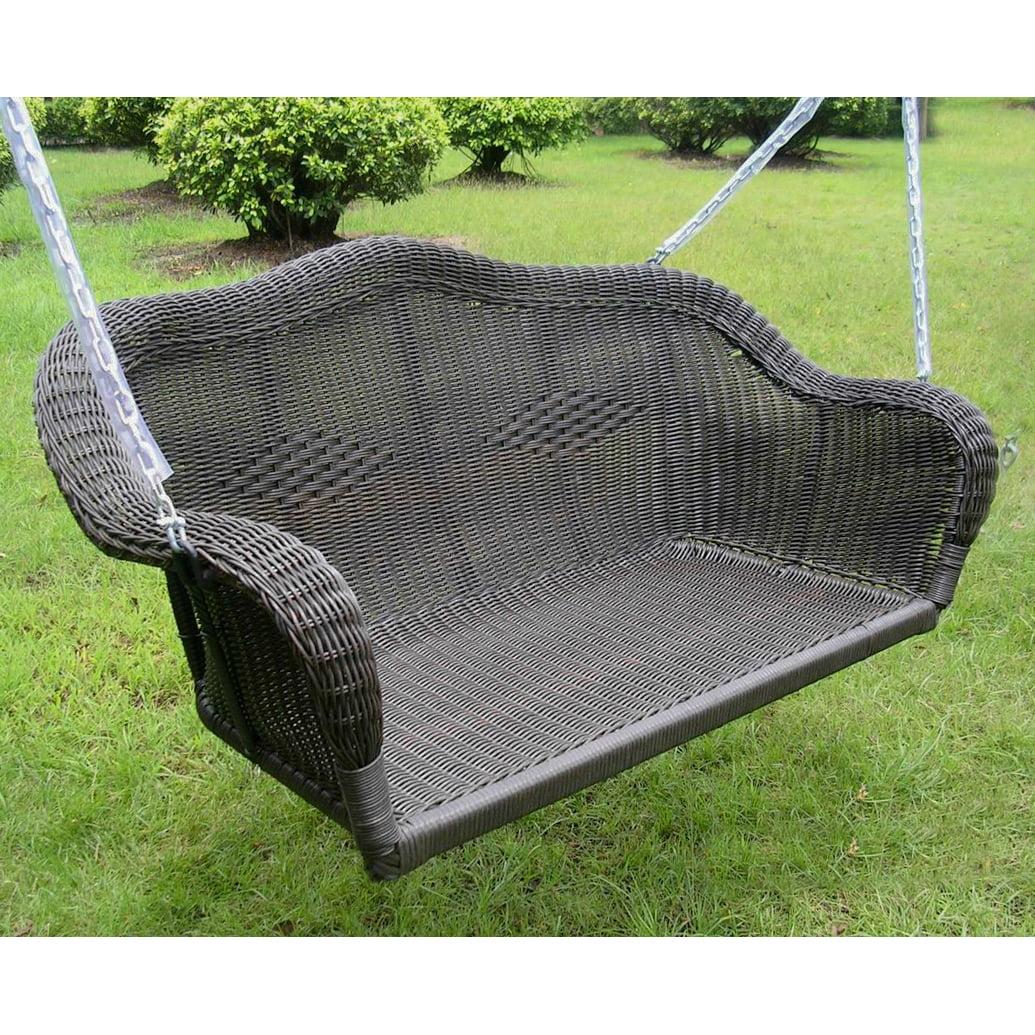 Maui Resin Wicker  Steel Hanging Loveseat Swing by Resin Furniture