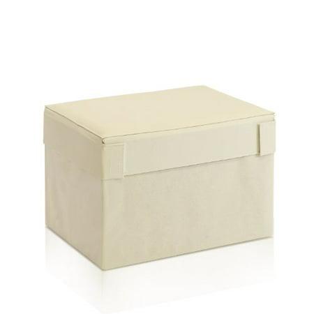 Furinno Oxford 10061R1IV Rectangular Foldable Storage Stool Ottoman, Ivory - image 1 de 1