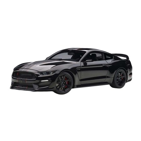 Ford Mustang Shelby GT-350R Shadow Black with Black Stripes 1/18 Model Car by - Shadow Shelby