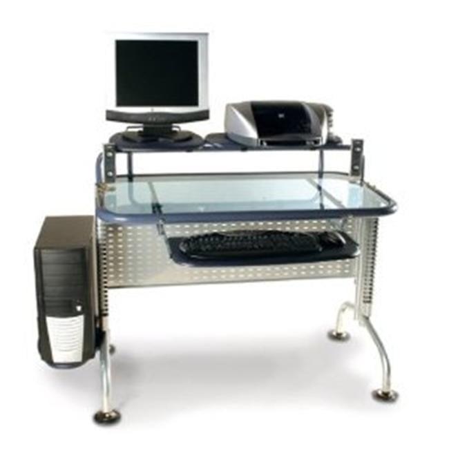Innovex Glass Computer Desk, Black