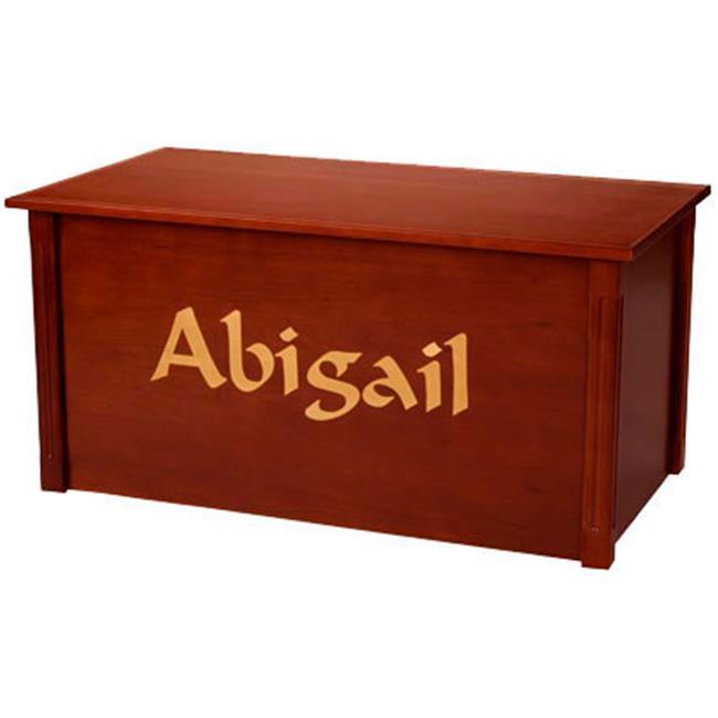Wood Creations WTC-Calligraphy Dark Cherry Toybox with Calligraphy font