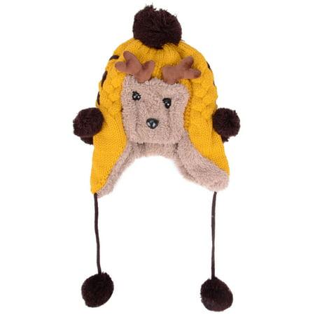 Trendy Winter Baby Elk Earflap Hat Cap Warm Cute Kids Boys Girls Toddler Plush