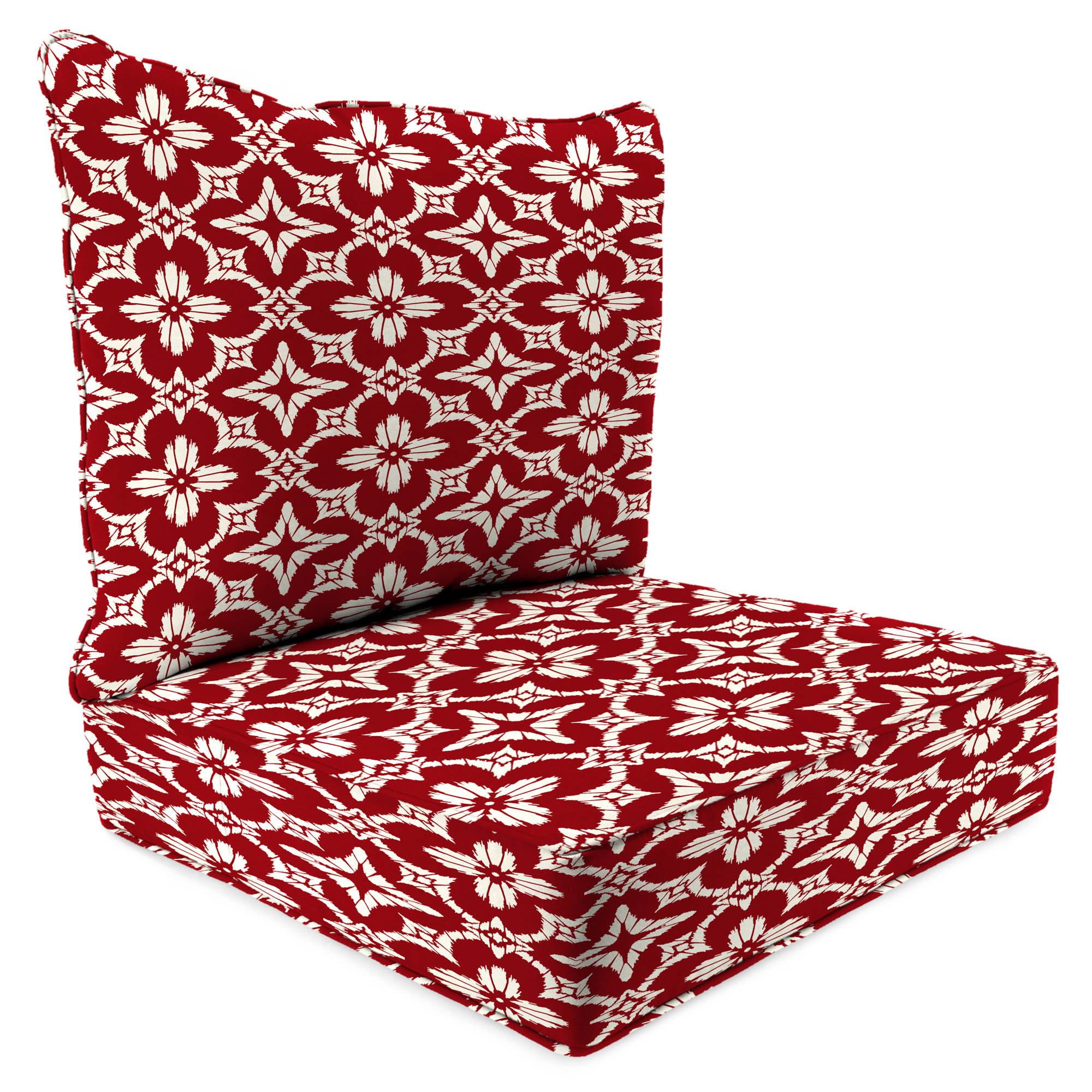 Jordan Manufacturing Outdoor Patio 2 PC Deep Seat Chair Cushion, Aspidora  Apple   Walmart.com