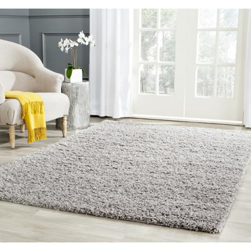 Safavieh  Athens Shag Light Grey Area Rug (6' x 9')