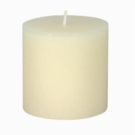 Design Ideas Pillar Candle, 3 x 3 in., Ivory Design Pillar Candle