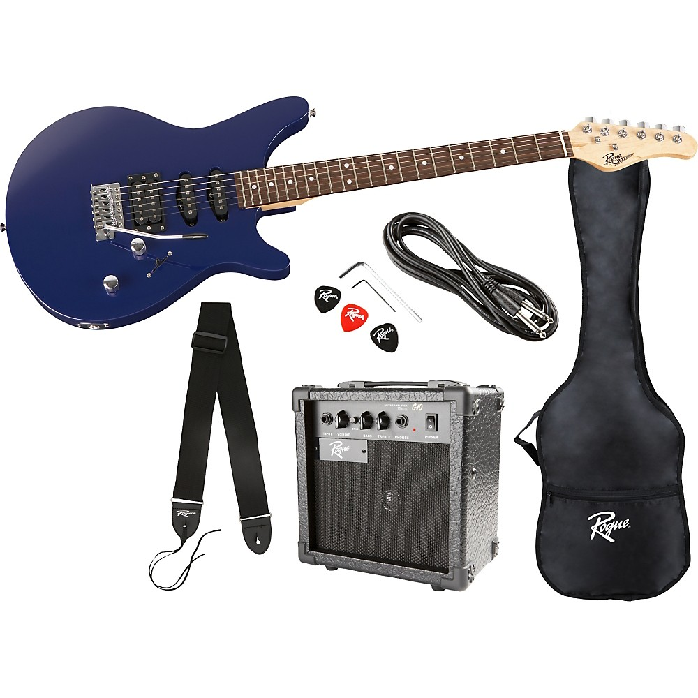 Rogue Rocketeer Electric Guitar Pack Blue