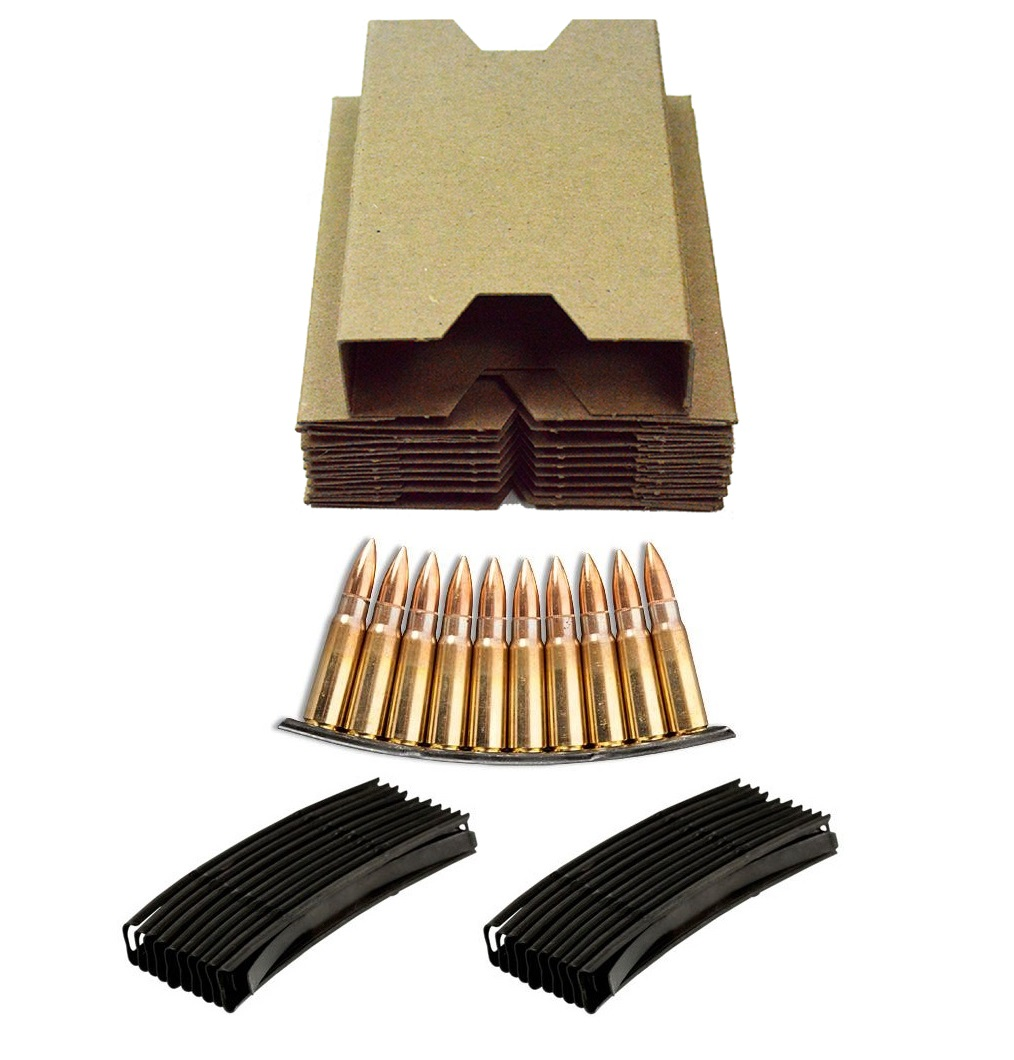 Ultimate Arms Gear 35 Pack of 7.62X39mm Stripper Clips Cardboard Box Inserts Holds 2 Clip Style of 10 Rounds + 70 Pack... by