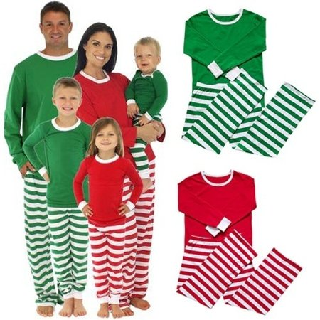 Christmas Family Women Men Sleepwear Pajamas Set Striped Cotton Pyjamas Outfits](Christmas Family Outfit)