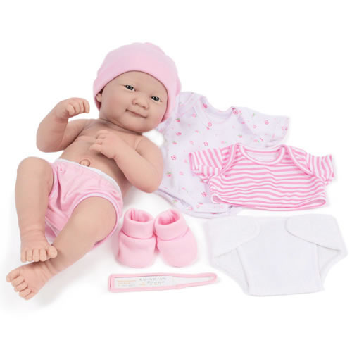 "14"" La Newborn(R) Deluxe Layette Doll Set Pink by JC Toys Designed by Berenguer"