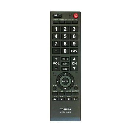 Toshiba CT-RC1US-18 TV Remote Control
