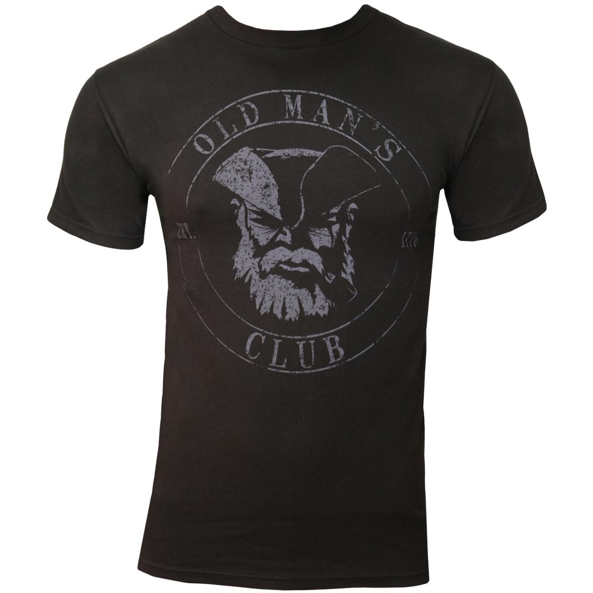 Ranger Up Old Man's Club Normal Fit T-Shirt - Black