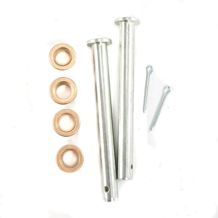 1979-1993 Ford Mustang Door Hinge Pin Kit with Bushings ; Replacement Hardware, 8pc. Set, For use on any 1979-1993 Ford Mustang By (Ford Mustang Front Door Hinge)