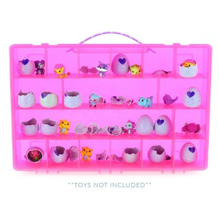 My Egg Crate Storage Organizer By Life Made Better - compatible with the Hatchimals and Hatchimal Colleggtibles brands - Durable Carrying Case For Mini Eggs, Easter Eggs & Speckled Eggs - Pink