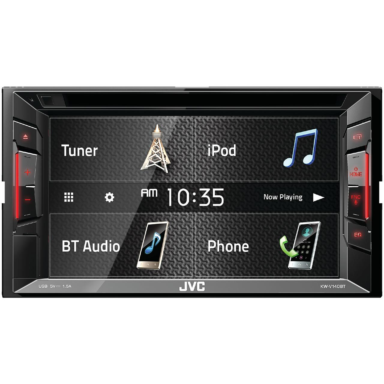 """JVC Mobile KW-V140BT 6.2"""" Double-DIN In-Dash AM/FM DVD Receiver with Bluetooth"""