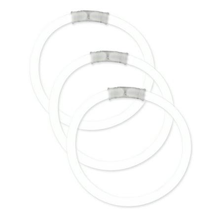 Fun Central (P75) 50 pcs 8 Inch White Glow Bracelets, Glow Light Up Sticks,  Glow Stick Bracelets Bulk - White Glow Bracelets