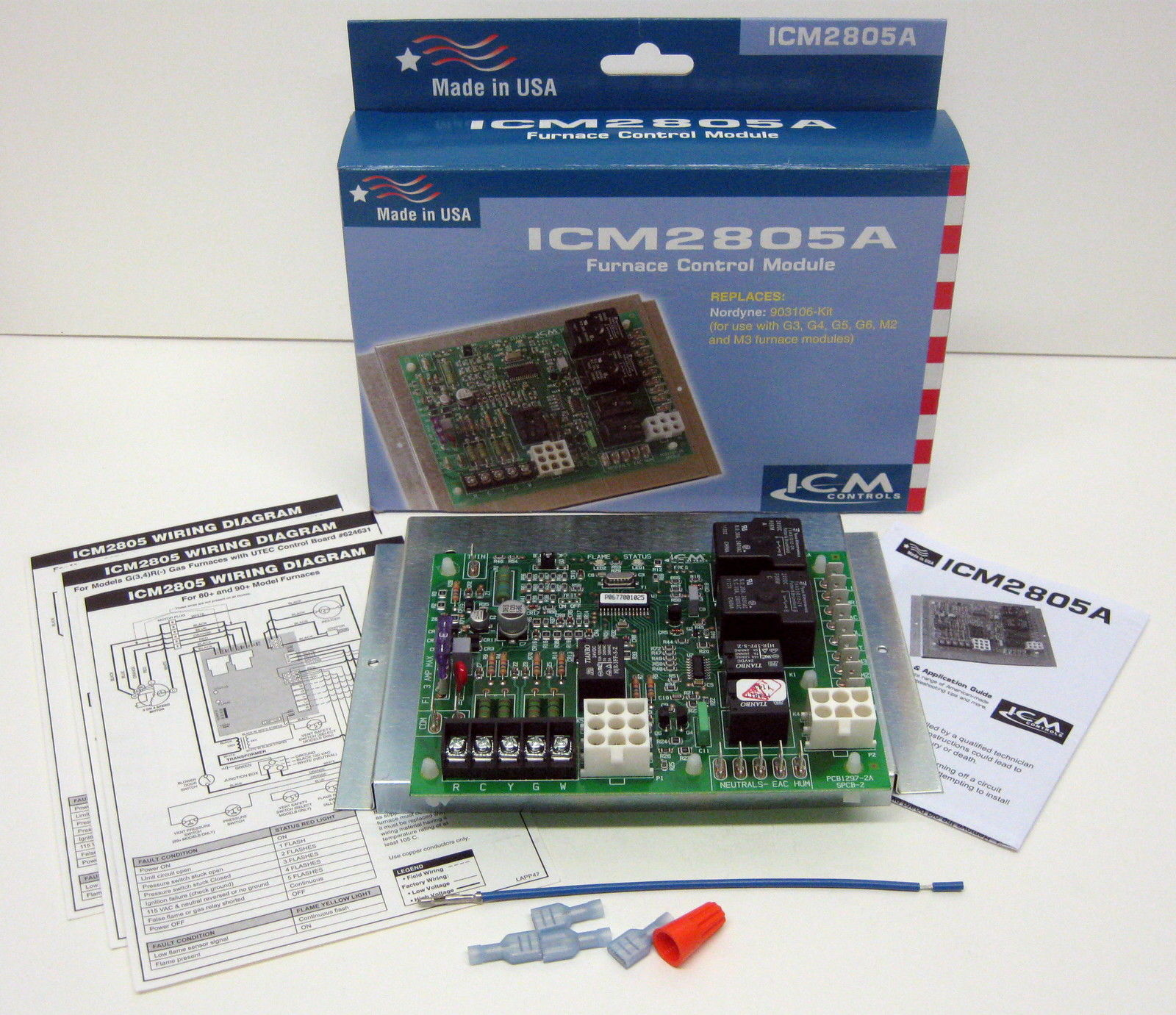ICM Controls ICM2805 Replacement Furnace Control Control Board For Nordyne  624631 - Walmart.com