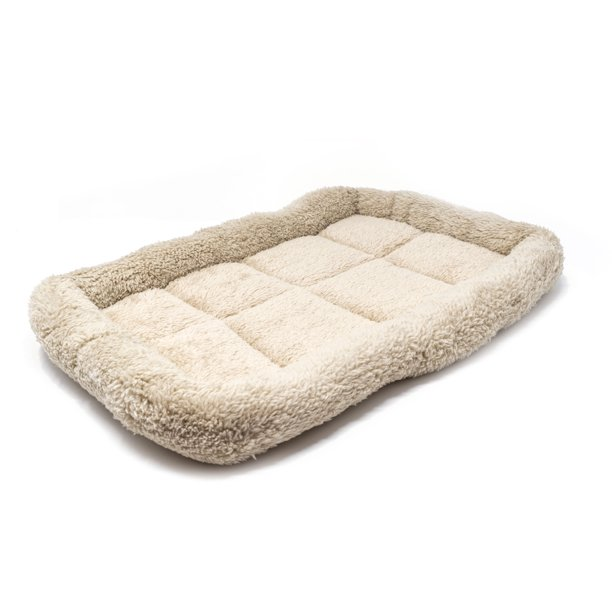 "ALEKO Small Soft Plush Beige Comfy Pet Bed Cushion Mat for Dogs and Cats, 16"" x 10"" x 1.5"""