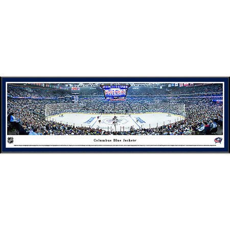 Columbus Blue Jackets Center Ice at Nationwide Arena Blakeway Panoramas NHL Print with Select Frame and Single Mat by