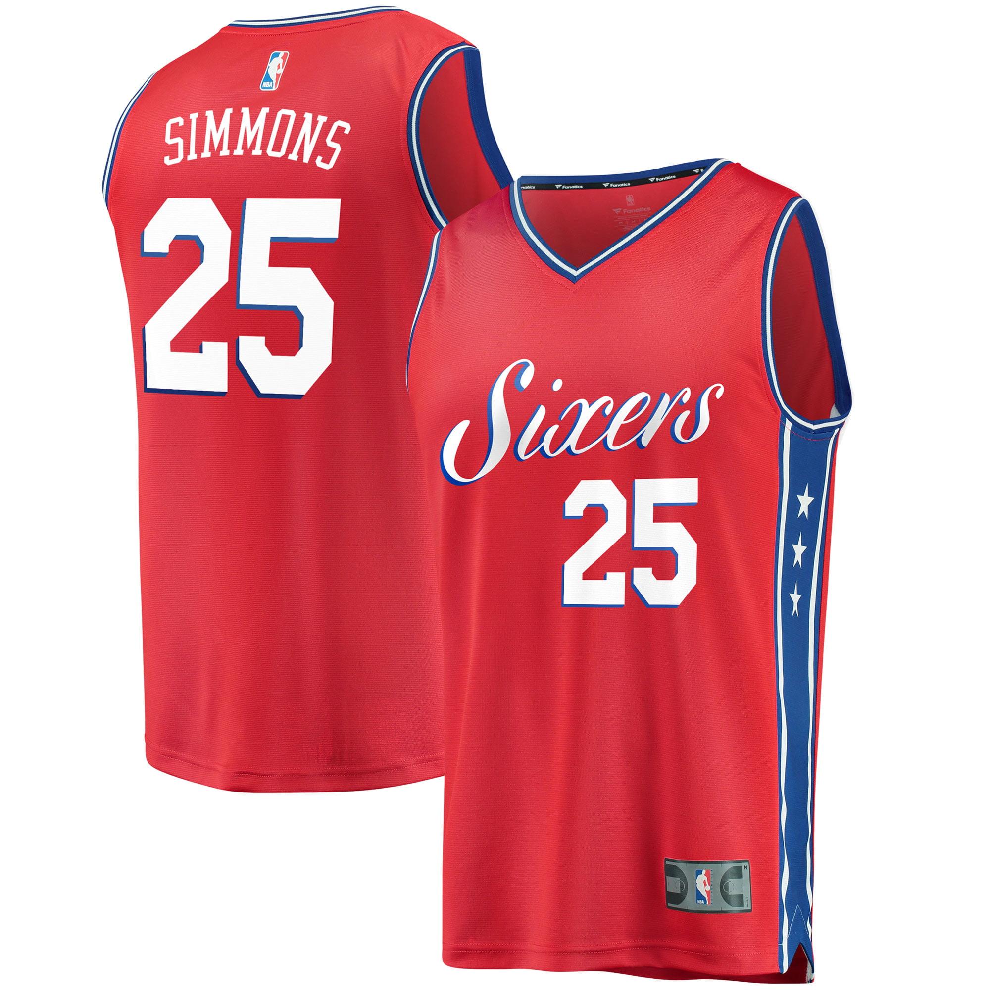 Ben Simmons Philadelphia 76ers Fanatics Branded Fast Break Replica Jersey Red - Statement Edition