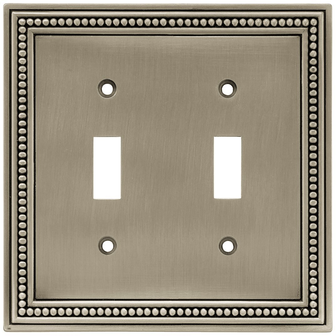 Brainerd Beaded Double Switch Wall Plate, Available in Multiple Colors