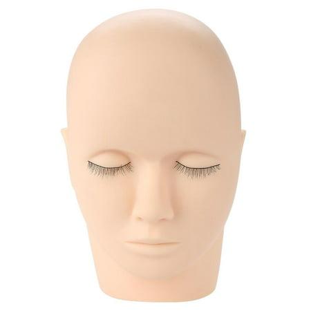 Qiilu Eyelash Practice Mannequin, Headform Mannequin,Soft Rubber Eyelash Graft Makeup Massage Practice Training Fake Headform Mannequin - image 8 of 12