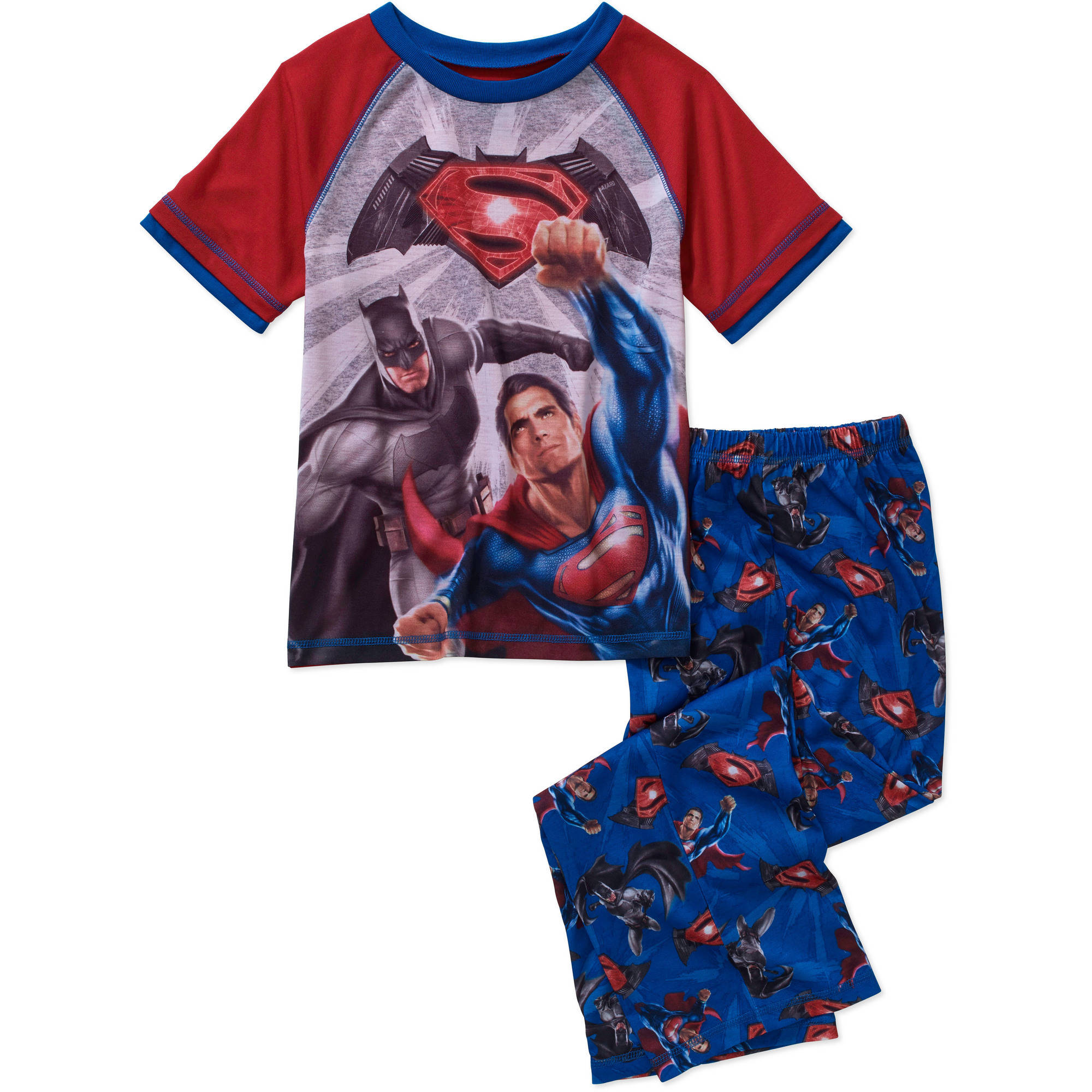 DC Comics Batman V Superman Boys Poly Jersey Sleep Set