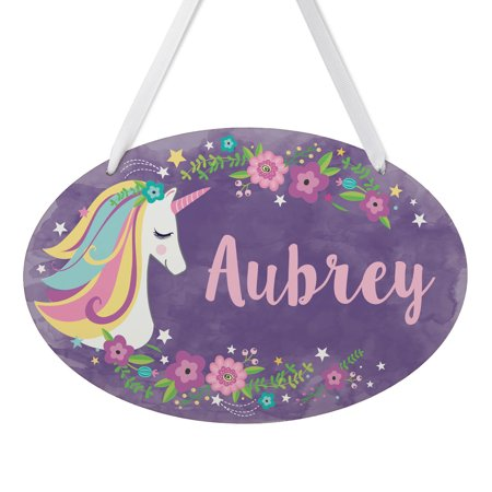 Personalized Girls Room Signs - Unicorn Personalized Room Sign