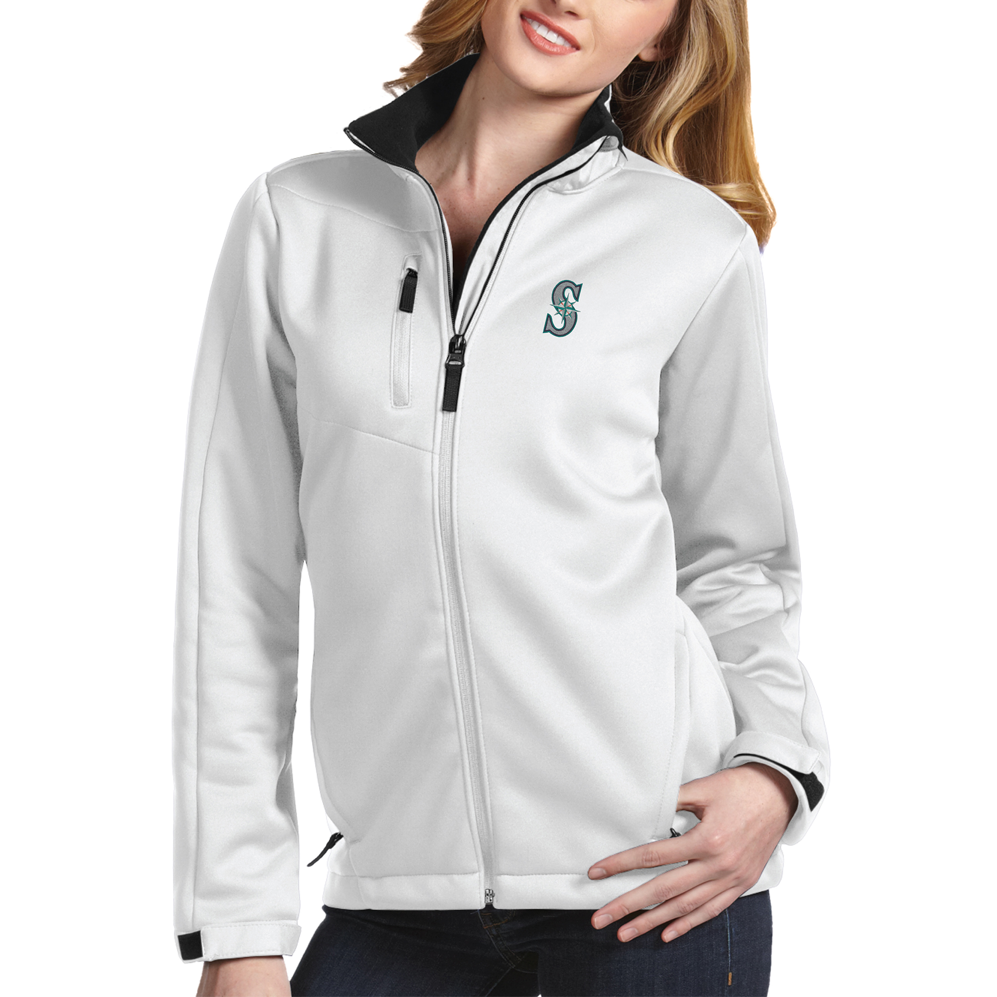 Seattle Mariners Antigua Women's Traverse Jacket White by ANTIGUA GROUP/ 22534