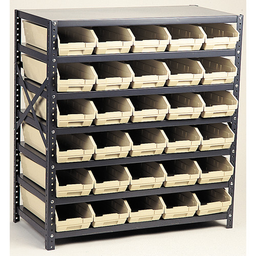 Quantum Storage Economy Shelf Storage Units with Bins