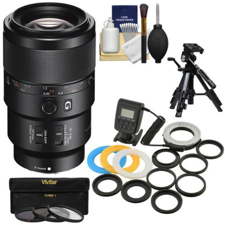 Sony Alpha E-Mount FE 90mm f/2.8 Macro G OSS Lens with Ring Light + Macro Tripod + 3 UV/CPL/ND8 Filters + Kit for A7, A7R, A7S Mark II (Sony Fe 90mm F 2-8 Macro Review)