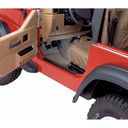 Bestop Door Sill - Bestop 51047-01 Jeep Cj7/Wrangler Highrock 4X4-Door Sill Entry Guards, Black