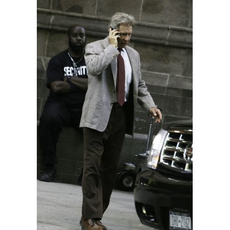 - Harrison Ford on the set of Indiana Jones at Yale University Connecticut Photo Print