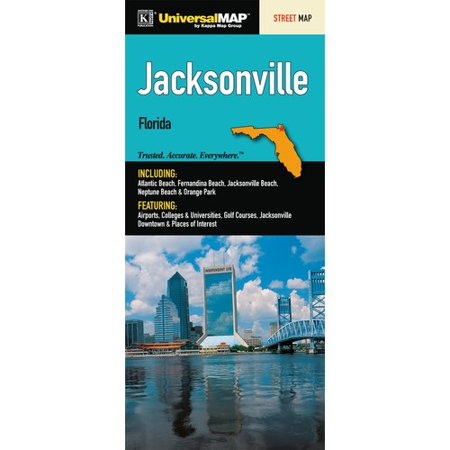 Universal Map Jacksonville/Duval County Florida Fold Map
