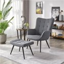 SmileMart Modern Accent Chair and Ottoman Set