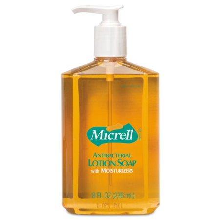 Micrell Lotion Antibacterial Soap  8 oz. Pump Bottle Scented, Case of 12 - Micrell Antibacterial Lotion Soap Pump