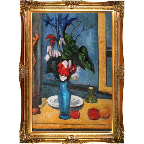 Tori Home Le Vase Bleu by Paul Cezanne Framed Original Painting