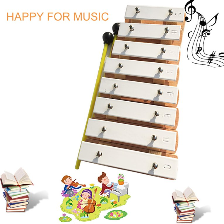 2017 Hot Sale TB8-1 8 Notes Wooden Xylophone Childhood Kids Music Instrument Best Gifts... by