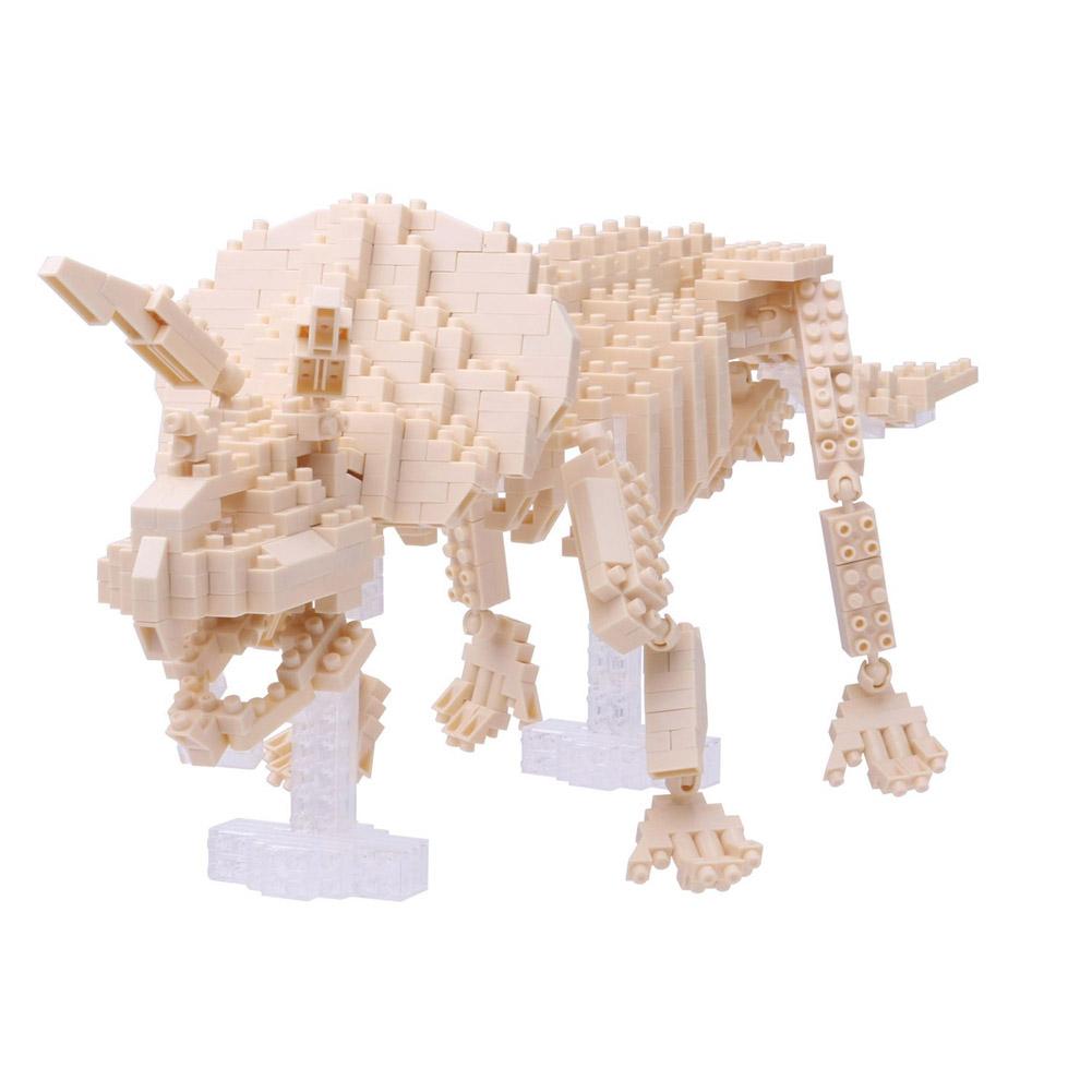 Nanoblock Triceratops Skeleton Building Kit 3D Puzzle by nanoblock