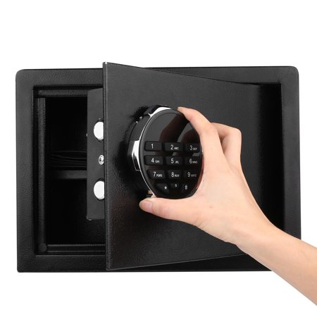 Security Safe Fire Box  Cabinet Safes LCD Digital Keypad 0.57 Cubic Feet Money Jewelry Storage ,Fireproof Safe Waterproof