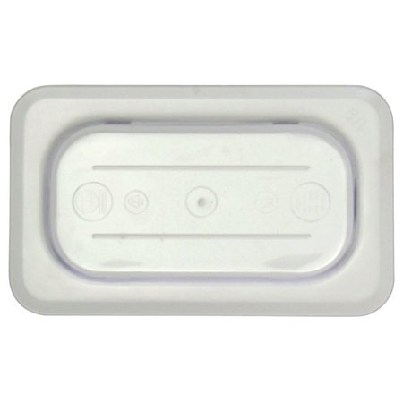 - Ninth Size Notched Cover With Handle For Cold Food Pans Translucent