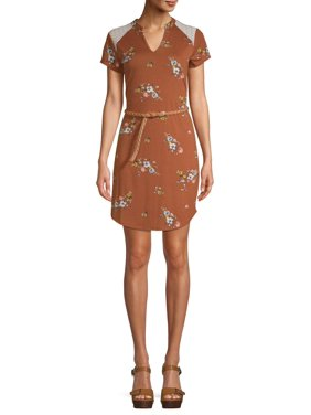 Juniors' Belted Tunic Dress