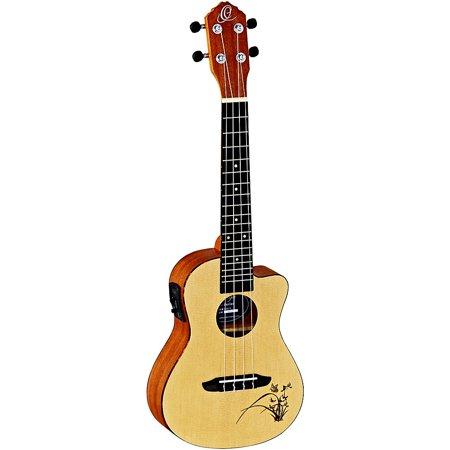 Ortega Bonfire RU5CE Concert Acoustic-Electric Ukulele with Cutaway Natural ()