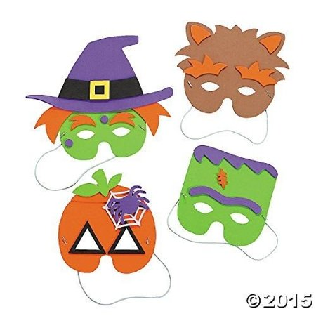 Oriental Trading Company Halloween Mask Craft Kit - Crafts for Kids & Hats &